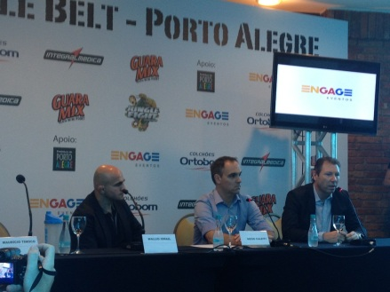 coletiva de imprensa anunciando o Jungle Fight 47