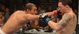 Aldo e Edgar protagonizaram a luta da noite no UFC 156. (Foto: reprodução.)
