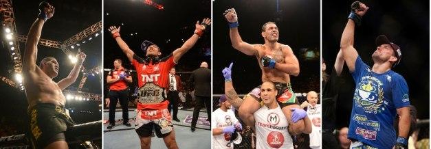 Só deu Brasil em Las Vegas. (foto: reprodução facebook UFC.)