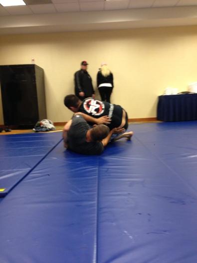 Hendo treinando JJ com Pancho.