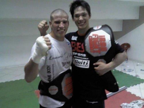 Macarrão e Yamauchi (Foto: jornalfolhadoestado.com)