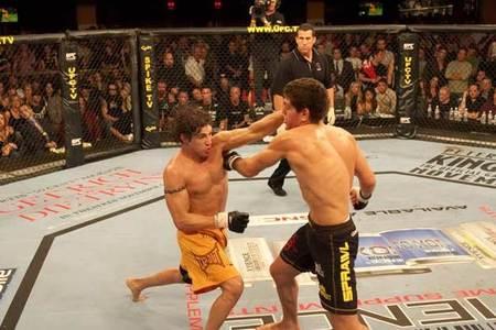 Diego Sanchez e Nick Diaz em 2005.