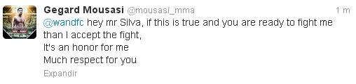 Mousasi responde Wand