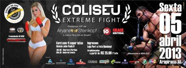 6º edição Coliseu Extreme Fight acontece nesta sexta-feira