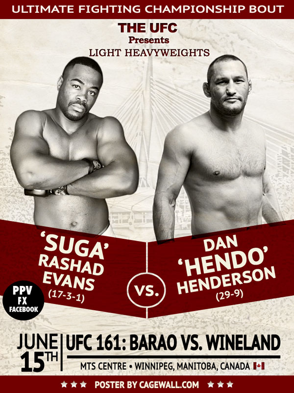Poster UFC 161 (Foto: Cagewall.com)