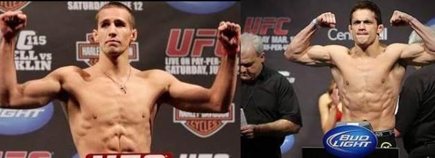 Rory Macdonald e Jake Ellenberger medem forças no UFC on FOX 8. (foto: reprodução).