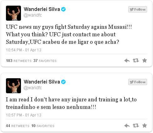 """Fight is fight!!!"" finalizou Wand em seu twitter."