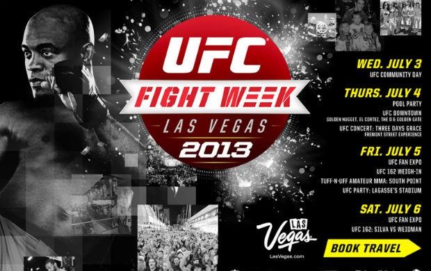 Cartaz oficial do UFC 162 Fight Week, que acontece em julho em Las Vegas (Foto: Reprodução/Twitter)